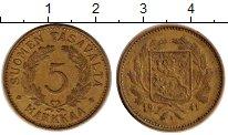 Изображение Монеты Финляндия 5 марок 1941 Латунь XF