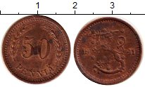 Изображение Монеты Финляндия 50 пенни 1941 Бронза XF