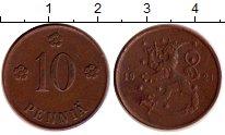 Изображение Монеты Финляндия 10 пенни 1921 Бронза XF