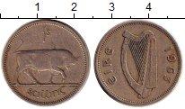 Изображение Монеты Ирландия 1 шиллинг 1963 Медно-никель XF Бык