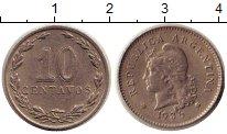 Изображение Монеты Аргентина 10 сентаво 1936 Медно-никель XF