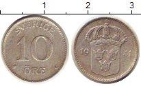 Изображение Монеты Швеция 10 эре 1941 Серебро XF