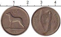 Изображение Монеты Ирландия 6 пенсов 1928 Медно-никель XF Ирландский  волкодав