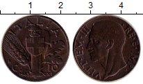 Изображение Монеты Италия 10 чентезимо 1943 Медь XF Витторио Эмануил III