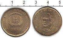Изображение Монеты Доминиканская республика 1 песо 2008 Латунь UNC-