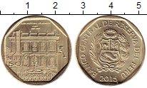 Изображение Монеты Перу 1 соль 2015 Латунь UNC- Архитектура. Лима