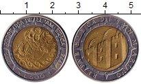 Изображение Монеты Сан-Марино 500 лир 1992 Биметалл UNC- Открытие Америки