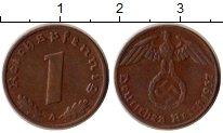 Изображение Монеты Третий Рейх 1 пфенниг 1937 Бронза XF А