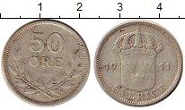Изображение Монеты Швеция 50 эре 1911 Серебро VF Густав V