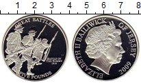 Изображение Монеты Остров Джерси 5 фунтов 2009 Серебро Proof Елизавета II.  Битва