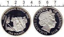 Изображение Монеты Великобритания Гернси 5 фунтов 2010 Серебро Proof