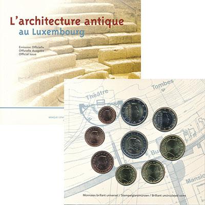 Изображение Подарочные монеты Люксембург Евронабор 2005 года 2005  BUNC В набор входят восем