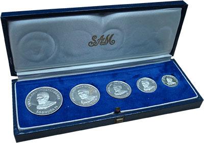 Изображение Подарочные монеты Свазиленд Независимость 1968 Серебро Proof- Набор выпущен в памя