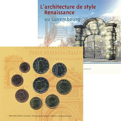 Изображение Подарочные монеты Люксембург Евронабор 2008 года 2008  BUNC В набор входят восем