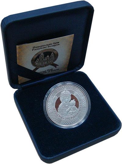 Изображение Подарочные монеты Беларусь 10 рублей 2013 Серебро Proof Богоматерь с младенц