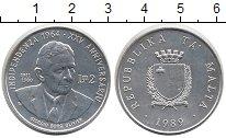 Изображение Монеты Мальта 2 фунта 1989 Серебро UNC- 25 лет Независимости