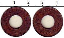 Изображение Монеты Индия 1 пайс 1943 Медь XF Георг VI
