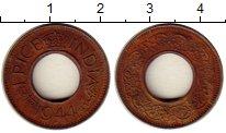Изображение Монеты Индия 1 пайс 1944 Медь XF Георг VI