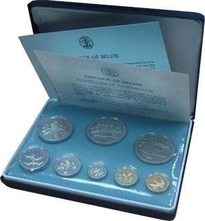 Изображение Подарочные монеты Белиз Регулярный выпуск 74 года 1974 Серебро Proof Представляем вам рег