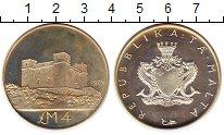 Изображение Монеты Мальта 4 фунта 1975 Серебро Proof- PROBA. Башня Святой