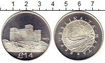 Изображение Монеты Мальта 4 фунта 1975 Серебро Proof-