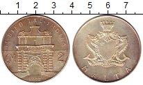 Изображение Монеты Мальта 2 фунта 1973 Серебро UNC- Форт
