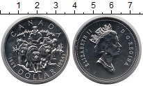 Изображение Монеты Канада 1 доллар 1994 Серебро UNC Последний патруль Ко