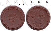 Изображение Монеты Саксония 1 марка 1921 Керамика UNC Эйзенах,Мартин Лютер