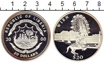 Изображение Монеты Либерия 20 долларов 2000 Серебро Proof