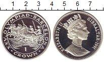 Изображение Монеты Гибралтар 1 крона 1991 Серебро Proof- Олимпийские игры,кол