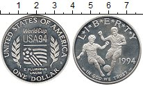 Изображение Монеты США 1 доллар 1994 Серебро Proof-