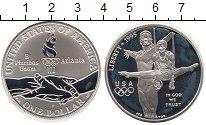 Изображение Монеты США 1 доллар 1995 Серебро Proof- Олимпийские игры,гим