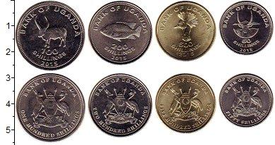 Изображение Наборы монет Уганда Набор 2015 года 2017  UNC- В набор входят четыр
