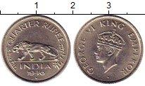 Изображение Монеты Индия 1/4 рупии 1946 Медно-никель UNC- Георг VI