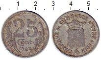 Изображение Монеты Франция 25 сантим 1922 Алюминий VF Токен. Эр и Луар