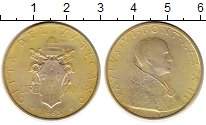 Изображение Монеты Ватикан 500 лир 1965 Серебро XF Павел VI
