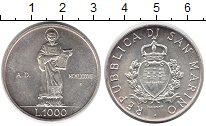 Изображение Монеты Сан-Марино 1.000 лир 1987 Серебро UNC-