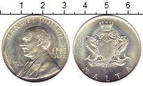 Изображение Монеты Мальта 1 фунт 1972 Серебро UNC- Манвел Димех