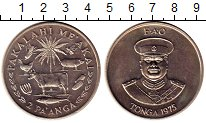 Изображение Монеты Тонга 2 паанга 1975 Медно-никель UNC-