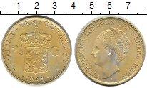 Изображение Монеты Кюрасао 2 1/2 гульдена 1944 Серебро XF Вильгельмина