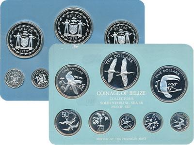 Изображение Подарочные монеты Белиз Набор proof-монет 1979 года 1979 Серебро Proof Набор монет 1975 год