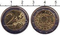 Изображение Монеты Ирландия 2 евро 2015 Биметалл UNC 30 лет флагу Европей