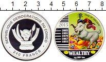 Изображение Монеты Конго 240 франков 2015 Серебро Proof