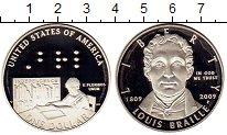 Изображение Монеты США 1 доллар 2009 Серебро Proof Луи  Брайль