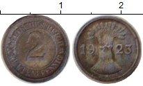Изображение Монеты Германия жетон 1923 Цинк XF Игровой жетон. 2 пфе