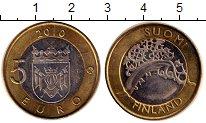Изображение Монеты Финляндия 5 евро 2010 Биметалл UNC- Исторические провинц