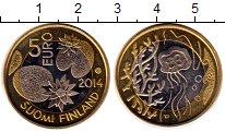 Изображение Монеты Финляндия 5 евро 2014 Биметалл UNC-