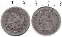 Изображение Монеты США 1/4 доллара 1853 Серебро VF