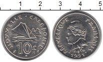 Изображение Монеты Франция Каледония 10 франков 1991 Медно-никель UNC-