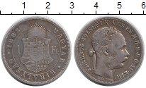 Изображение Монеты Венгрия 1 форинт 1883 Серебро VF